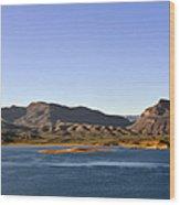 Roosevelt Lake Arizona Wood Print by Christine Till