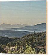 Roosevelt Lake Wood Print