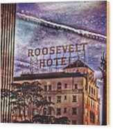 Roosevelt Retro Wood Print