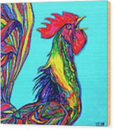 Rooster Crow Wood Print
