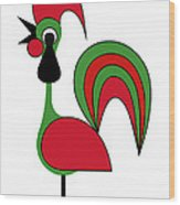 Rooster from Porto Wood Print
