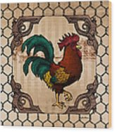 Rooster I Wood Print
