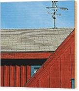 Rooster Weathervane Wood Print