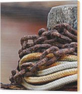 Rope And Chain Wood Print