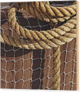 Rope And Net Wood Print