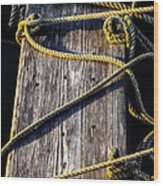 Rope And Wood Sidelight Textures Wood Print