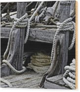 Rope Course Wood Print