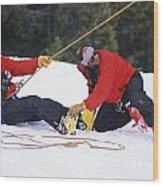 Rope Evac Wood Print