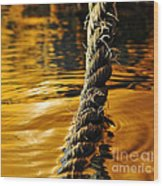 Rope On Liquid Gold Wood Print