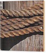 Roped Wood Print