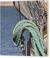 Ropes And Rigging Wood Print