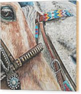 Roping Horses Wood Print by Nadi Spencer