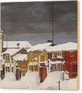 Roros In Winter - Norway Wood Print