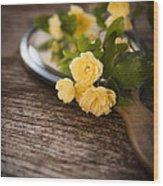 Rosa Banksiae Lutea Wood Print