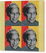 Rosa Parks X4 Wood Print by Lawrence Hubbs