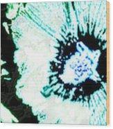 Rosa Sinensis Abstract Wood Print
