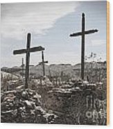Rosary For The Dead Wood Print by April Davis