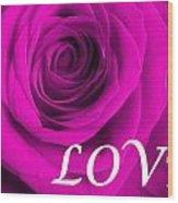 Rose 16 Love Wood Print