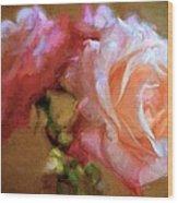 Rose 166 Wood Print