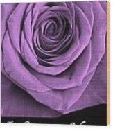 Rose 5 I Love You Wood Print