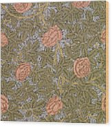Rose 93 Wallpaper Design Wood Print by William Morris