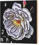 Rose An Petals  Wood Print