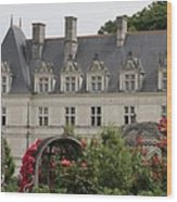 Rose And Cabbage Garden Chateau Villandry Wood Print