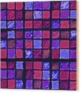 Rose And Purple Sudoku Wood Print