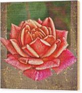 Rose Blank Greeting Card Wood Print