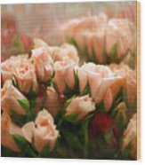 Rose Blush Wood Print