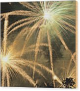 Rose Bowl Fireworks Wood Print