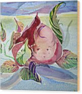 Rose Bud Wood Print by Mindy Newman