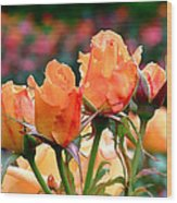 Rose Bunch Wood Print by Rona Black