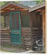 Rose Cabin At The Holzwarth Historic Site Wood Print