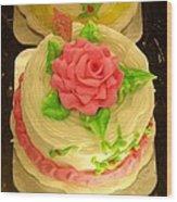 Rose Cakes Wood Print