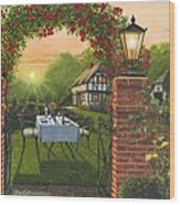 Rose Cottage - Dinner For Two Wood Print