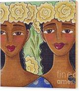 Rose Crown Sisiters Wood Print