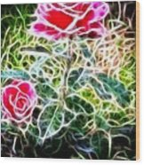 Rose Expressive Brushstrokes Wood Print