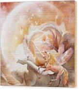 Rose For A Unicorn Wood Print