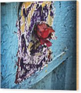 Rose For The Dead Wood Print by John Rizzuto