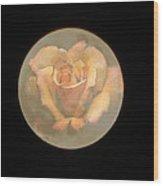 Rose Full Moon Wood Print