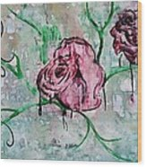 Rose Garden  Wood Print by Kiara Reynolds