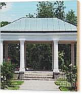 Rose Garden Pergola In Delaware Park Buffalo Ny Oil Painting Effect Wood Print
