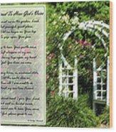 Rose Garden Prayer Wood Print