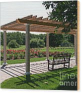 Rose Garden Retreat Wood Print