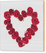 Rose Heart Wood Print