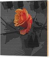 Rose IIi - A Message Wood Print