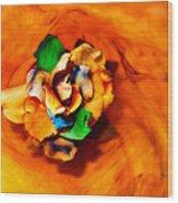 Rose In A Dream Wood Print