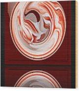 Rose In Orb Wood Print