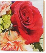 Rose Is A Rose Wood Print